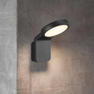 Nordlux LED Aussen-Wandleuchte Marina Flatline IP44 Schwarz, Opal Weiß