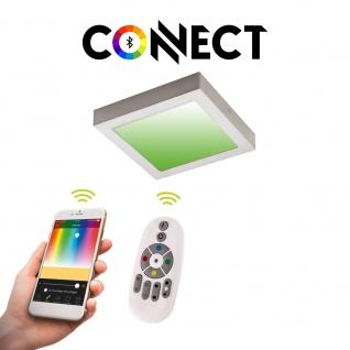Connect LED-Deckenleuchte 22, 5x22, 5 cm Alu-Matt / 2000 Lumen / RGB+CCT / LED Deckenlampe