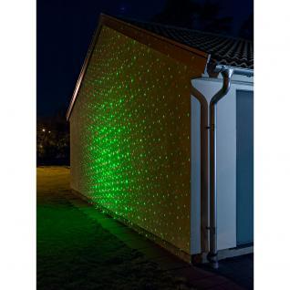 Konstsmide 4530-590 LED Laser, mit bewegten und funkelnden Punkten, mit Fernbedienung, Bewegungssensor und wählbarem 4h/6h und 8hTimer , inkl. Erdspieß, rote und grüne Dioden, 12V Außentrafo - Vorschau 2