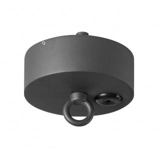 SLV Deckenrosette für Photonia Outdoor Pendelleuchte Anthrazit IP44 SLV 1000398