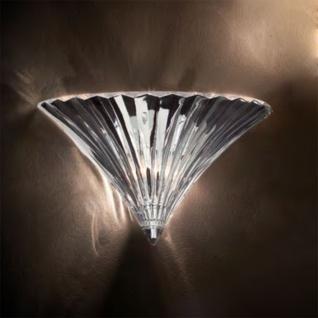 Ideal Lux 13060 Santa mundgeblasene Glas-Wandleuchte Wandlampe Chrom Klar