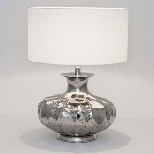Holländer 704 K 1203 Tischleuchte Damasco Aluminium Vernickelt Silber