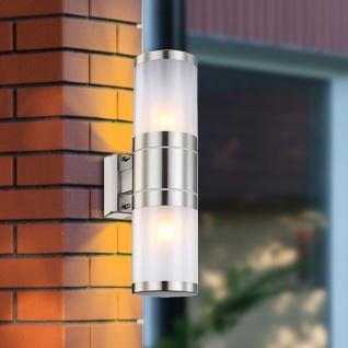 Moita Aussenwandleuchte Double Edelstahl Gartenlampe Wandaussenlampe