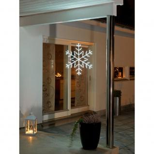 LED Acryl Schneeflocke 60 Kaltweiße Dioden 24V Außentrafo