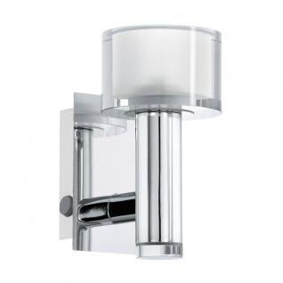 Eglo 93932 Fabiana 1 LED Wandleuchte 1 x 33 W Stahl Chrom Glas klar satiniert