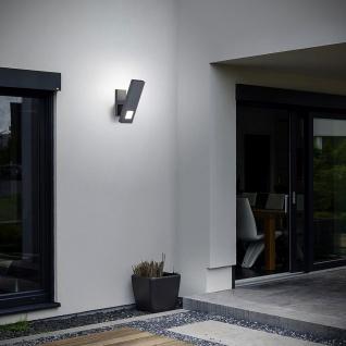 Helestra LED Außen-Wandleuchte Mio IP54 Graphit