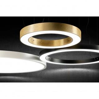 Panzeri P08202.120.0102 Silver Ring LED-Ringleuchte Ø 123cm Schwarz Deckenlampe