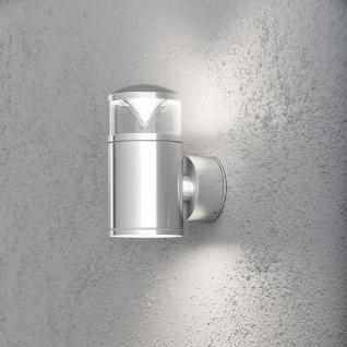 Konstsmide 7905-310 Monza Energiespar Aussen-Wandleuchte mit doppeltem Lichtkegel klares Glas Reflektor