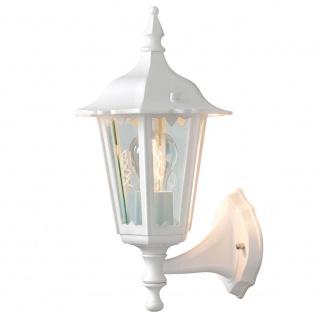 Konstsmide 7232-250 Firenze Aussen-Wandleuchte Weiß klares Glas