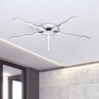 Roncade LED-Deckenleuchte Stern 76cm 2500lm Chrom Deckenlampe