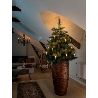 LED Baumkette Topbirnen One String 25 Warmweiße Dioden für Innen