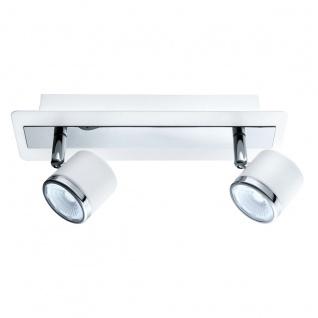 Eglo 94557 Pierino 1 LED Spot 2 x 5 W Stahl Weiss Chrom