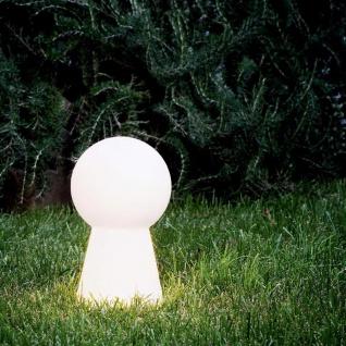 Ideal Lux 131955 Birillo Aussenleuchte Bodenleuchte 40cm Weiß Gartenleuchte