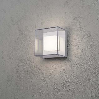 Konstsmide 7925-310 Sanremo LED Aussen-Wandleuchte Grau klares Polycarbonat Glas (bruchsicher)