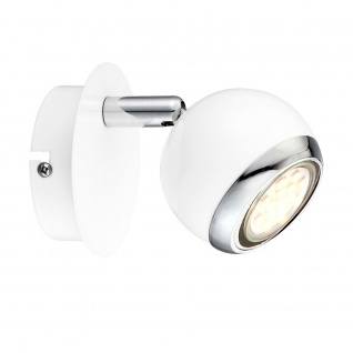 Globo 57882-1 Oman Wandstrahler 1-flammig Weiß Wandlampe Wandstrahler