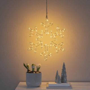 Weihnachtliche LED Schneeflocke IP20 mit 100 Lichtpunkten
