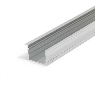 XXL Einbauprofil 200cm Alu-eloxiert ohne Abdeckung für LED-Strips