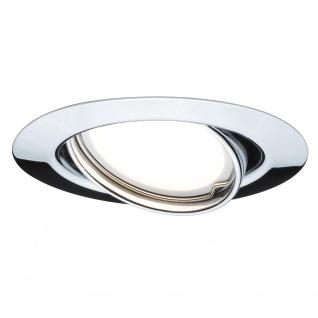 Paulmann 3er LED Einbauleuchten-Set rund 4, 5W GU10 Chrom schwenkbar 93847