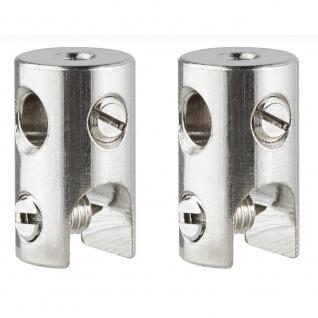 Paulmann WS L&E Seilklotz Seilsysteme 2er Pack max. 150W Stange max. 300W Chrom 978019