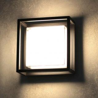 s.LUCE pro Cube LED-Aussenleuchte 20cm Wand oder Decke 12W Schwarz Wandlampe Aussen