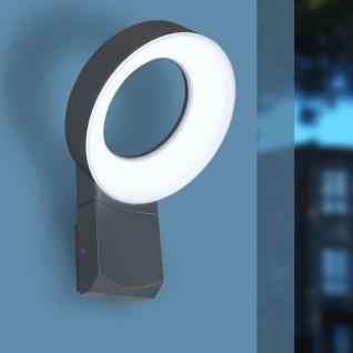 Lutec Meridian LED-Außenwandleuchte mit Bewegungsmelder IP54 800lm Anthrazit - Vorschau 2