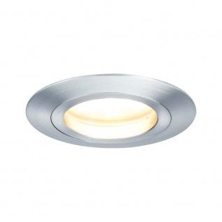 EBL Set Coin dim sat rund starr LED 3x7W 2700K 230V 51mm Alu ged/Alu Zink