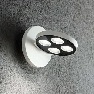 Ideal Lux LED Wandleuchte Garage 4-flg. Rund Weiß 205892
