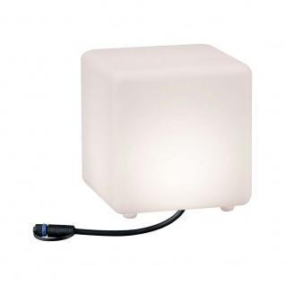 Paulmann LED Plug & Shine Lichtobjekt Cube 20x20cm IP67 24V 3000K 235lm 94180
