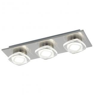 Eglo 94571 Marchesi / LED Wand & Deckenleuchte / 3 x 45 W / Stahl Alu Nickel-Matt Kunststoff klar