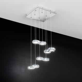 Corliano / Kristall LED Hängeleuchte / Chrom / 8 x 4, 2W / Hängelampe