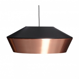 s.LUCE LED Pendelleuchte SkaDa Ø 40cm in Kupfer, Schwarz Pendellampe Hängelampe - Vorschau 3