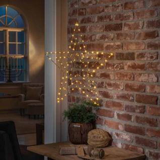 Weihnachtlicher LED Stern mit 112 Lichtpunkten IP20