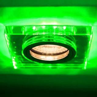Soren GU10 Decken-Einbaustrahler mit grünen LED`s 9 x 9cm Einbauleuchte 230V