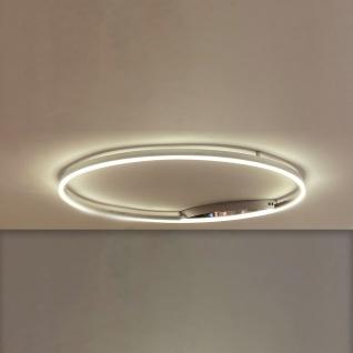 s.LUCE pro LED-Deckenlampe Ring L Dimmbar Ø 80cm in Chrom Wohnzimmer Ring Deckenlampe