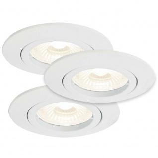 Nordlux Kant 3er-Set LED Einbaustrahler rund 3 x 230lm 3000K Weiß