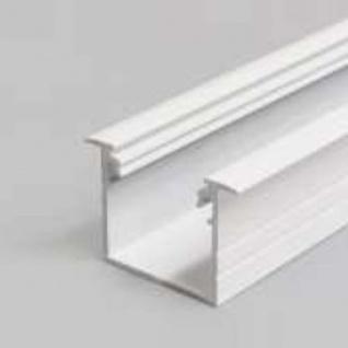Einbauprofil tief 200cm Weiss ohne Abdeckung für LED-Strips