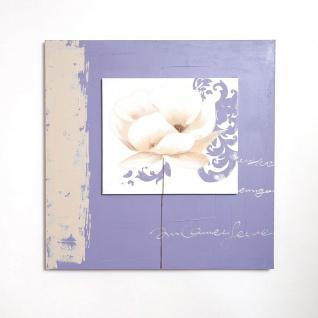 Holländer 273 3111 Wandbild Ottico Leinwand-Holzrahmen Beige-Violett-Weiss - Vorschau 2