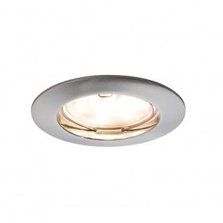Paulmann 928.11 3er LED Einbauleuchten-Set Coin klar rund 7W Eisen dimmbar