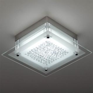 Leah LED Deckenleuchte mit Kristallen 28x28cm 12W Chrom Deckenlampe