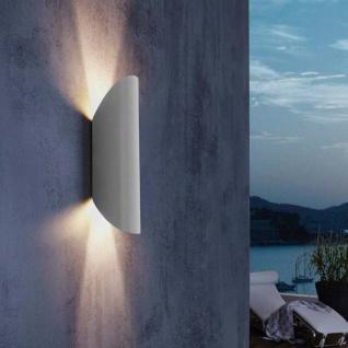 LED Wand-Aussenleuchte Edgerton IP44 2 x 330lm Silber Wandleuchte Aussenlampe
