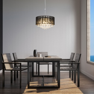 LED Hängeleuchte Bagana höhenverstellbar 75-120cm LED Chrom, Schwarz, Klar