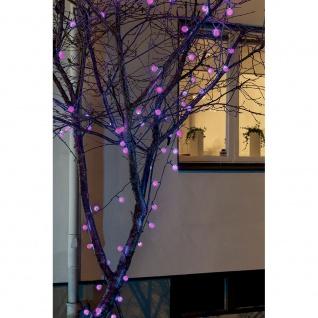 LED Globelichterkette große runde Dioden mit RGB Farbwechsel 80 RGB Dioden 24V Außentrafo