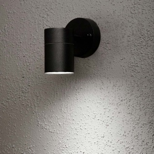 Konstsmide 7572-750 Modena Aussen-Wandleuchte Schwarz klares Glas Reflektor