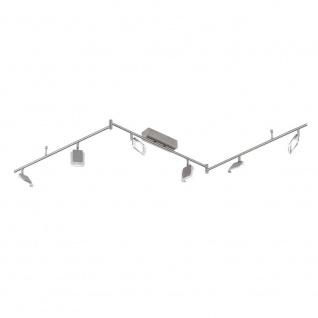 Wofi Vileta LED Deckenleuchte 6-flammig Nickel matt Strahler Spots