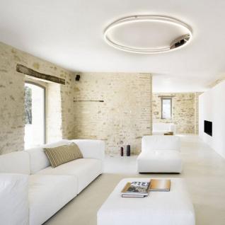 s.LUCE pro LED-Deckenleuchte Ring XL Dimmbar Ø 100cm in Chrom Wohnzimmer Ring Deckenlampe