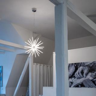 s.LUCE Peak LED Hängeleuchte mit Acryl-Stacheln Ø 75cm Chrom LED Hängelampe