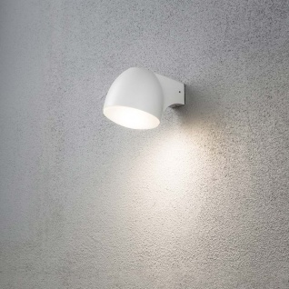 Konstsmide 7531-250 Ferrera LED Aussen-Wandleuchte Weiß gefrostetes Glas
