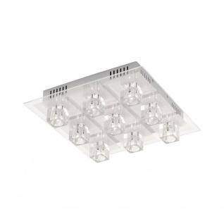 LeuchtenDirekt 50385-17 Oki LED Deckenleuchte 9 x G4 14W + 9 x LED 0, 36W RGBK Silberfarben - Vorschau 2
