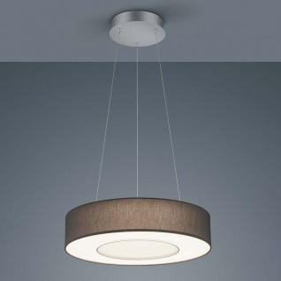Helestra LED Pendelleuchte Lomo Nickel-Matt Chrom Schirm Chintz Anthrazit