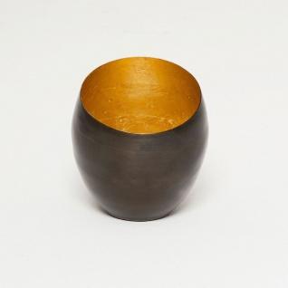 Holländer 257 3544 Windlicht Abete Klein Metall Bronze-Braun-Gold